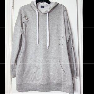 Distressed hoodie!